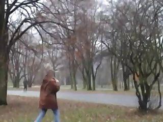Busty Blonde Granny Fucking In Public