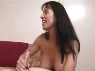 Fucking looks mum gives son a handjob video gives