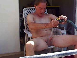 Dad Masturbate At Balcony