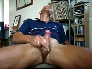 Str8 Daddy Jerk & Cum Watching Porn