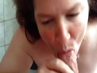 #homemademature - Epic Blowjob And Cum On Mature Wife