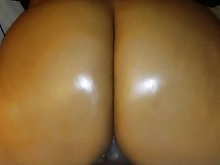 Big Booty Light Skinned Woman Rides Dildo