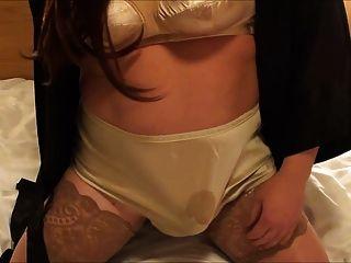 Retro Satin Panty Orgasm