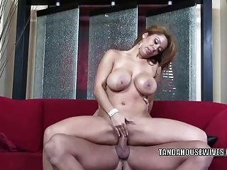 Busty Milf Sienna West Fucks And Takes The Cum In Her Mouth