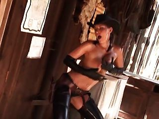 A Fistful Of Doll Ass - Oiled Cowgirl Striptease Western