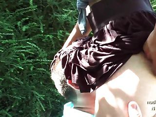 Amateur Young French Slut Sucks In 3way Outdoor