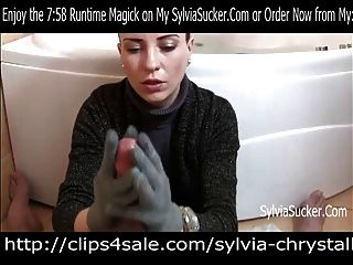 image Pov hungarian knit gloves handjob and cumshot goddess sylvia chrystall hd