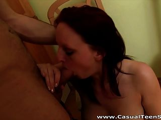 Casual Teen Sex - A Facial In The Kitchen