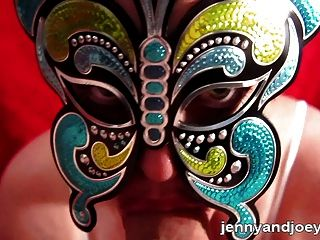 Pov Butterfly Mask Blowjob