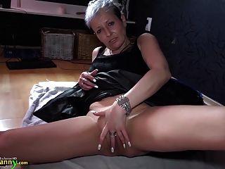 Oldnanny Horny Mature Masturbation Her Old Pussy