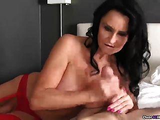 Brunette Pornstar Pov Handjob