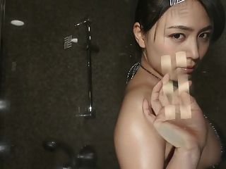 Yukie Dancing - Oiled Up Sequin Bikini (non-nude)