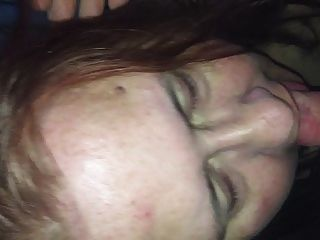 Wife Takes Her Forst Load In The Mouth