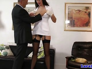 Euro Mature In Stockings Picks Up Dude For Fingerfuck