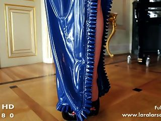 Blue Latex Dress