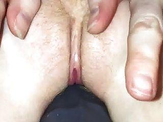 Close Up Of Big Dildo And Gaping