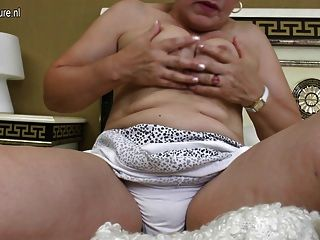 Mature Aunty On Her Bed