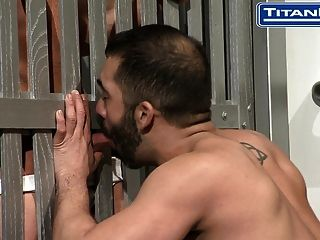 Big Dicked Hairy Latino Gets Face Fucked