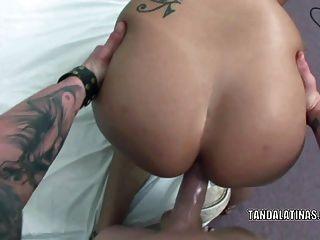 Curvy Milf Rosario Stone Takes The Cum On Her Latina Ass