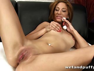 Redhead Enjoys Pumping Her Labia Before Getting Off With A M