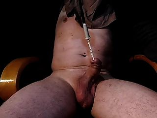 Fucking Machine Rotating Toothed Rod Into Dick Screwdriver