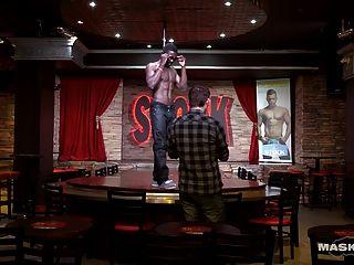 Maskurbate Big Black Cock Strippng In Stock Bar