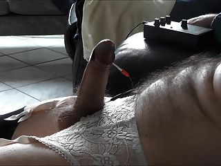 Valentine Electro Stim And Cum In Stockings And Guspenders