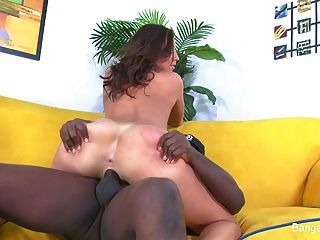 Sexy Brunette Teen Tries It Black