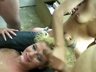 Blonde Covered In Cum