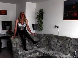 Crossdresser greets lover - 2 part 1