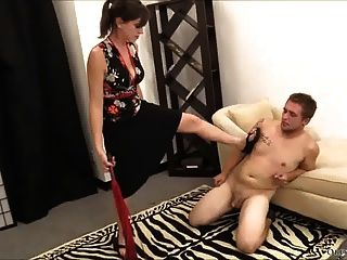Ballbusting, Foot Domination, Humiliation, And Whipping