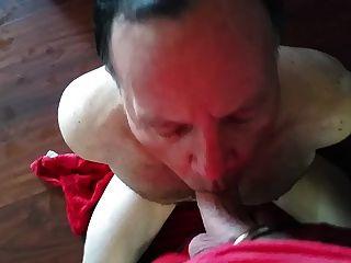 Submissive Slave Sucks