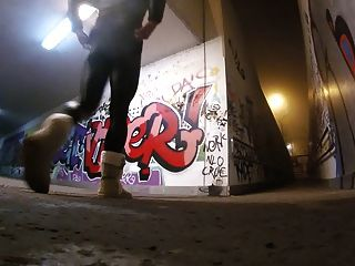 Crossdressing In Shiny Leggings And Uggs