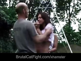 Hussy Pussy Causing Catfight Gets Hard Spanekd And Fucked