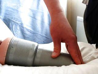 Multi Orgasmic Training With Fleshlight. Cum 3 Times