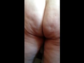 Drying Her Hairy Pussy, Ass, Big Tits, Nipples