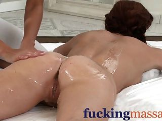 Massage Rooms Stunning Redhead Orgasms With Petite Blonde