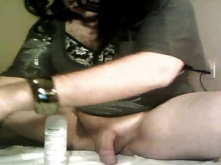 Sissy Fag Fucks Ass And Eats Own Cum