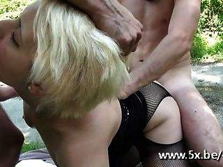 Celia Gangbanged In Pantyhose