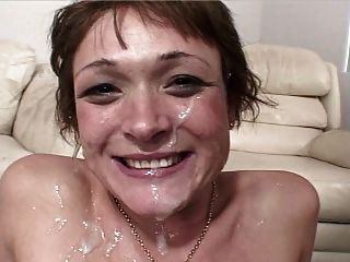 Twink Face Covered With Jizz