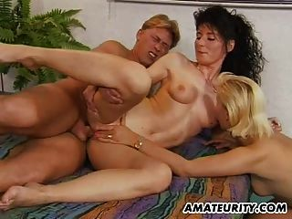 Amateur Milf Anal Threesome Action With Facial Cumshot