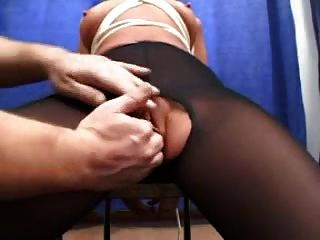 Tied Up And Blindfolded German Babe Fisted