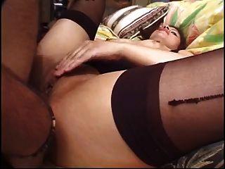 Filipina-latina Gets Ass-fucked By 2 Guys