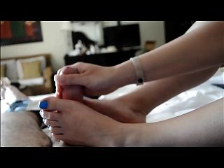 Nylon footjob compilation