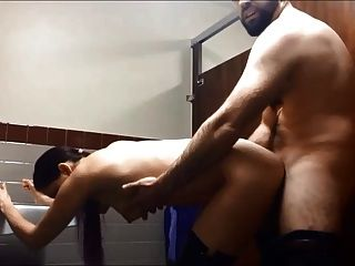 Sucking And Fucking In A Public Bathroom
