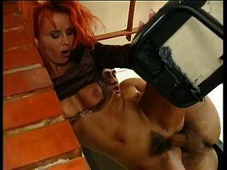 Redhead Milf Fucked On Bar.