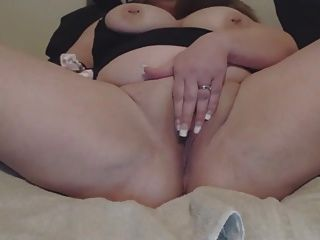 Chubby White Slut Staffed Pussy Squirting