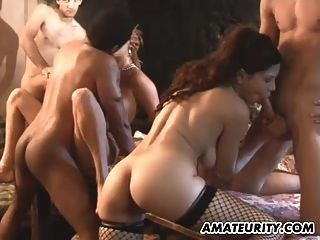Amateur Homemade Gangbang With 2 Hot Girlfriends