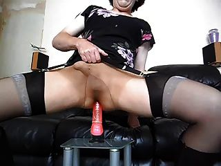 Playing With A Dildo In My New Tights