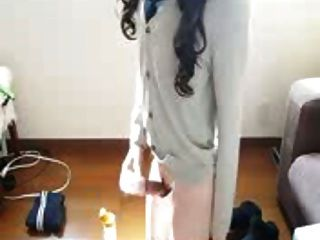 Japanese Crossdresser Jerk Off